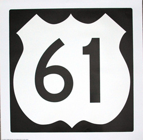 Highway 61 Blues Sign